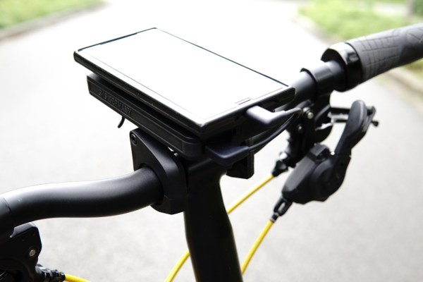 SKS Compit+ smartphone handlebar holder compatible with your Brompton(includes a 5000mAh Qi wireless powerbank)