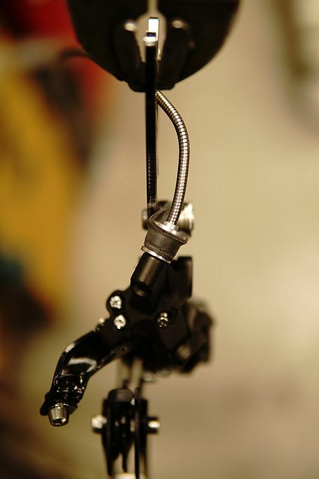 Shimano Zee rear derailleur with modified top link, Diabolo set and chain hook
