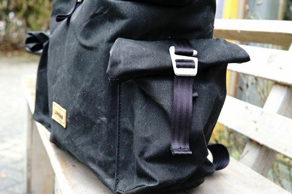 Lumabag Urban Traveller model 'Vincent' backpack & front bag for Brompton bikes