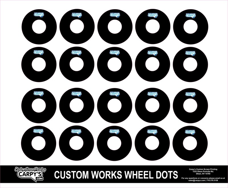 Customworks Foam Tire Wheel Dots (choose your color)