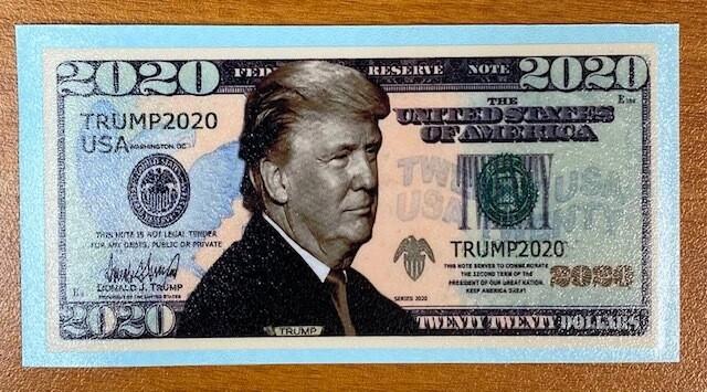 Trump 2020 Fake Money Sticker