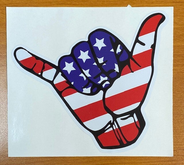 USA Hang Loose Sticker