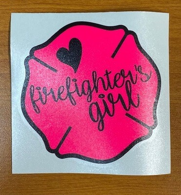 Firefighters Girl Sticker