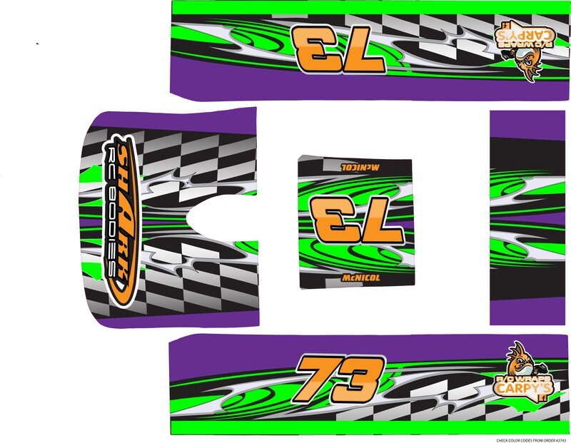 Shark Assassin SCT 1/8  Late Model Wrap (Designed to Order)