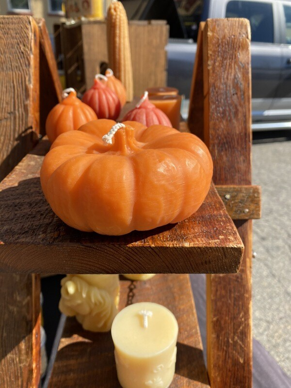 Pumpkin Beeswax Candle
