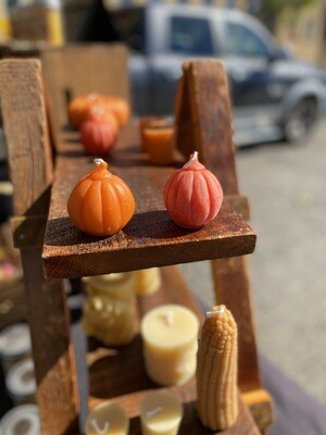 Small Pumpkin Beeswax Candle