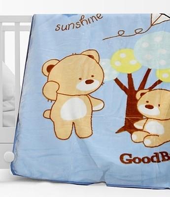 Κουβέρτα Βελουτέ Κούνιας 682 Μπλε - Sunshine