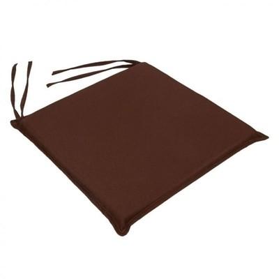 Μαξιλάρι Καρέκλας Μονόχρωμο Καφέ - Be Comfy