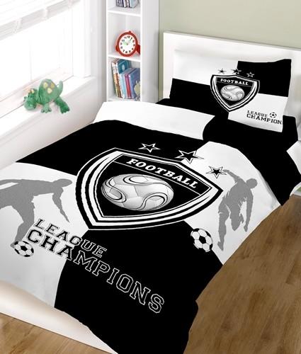 Σετ Σεντόνια Μονά Champions Black-White Cotton Line