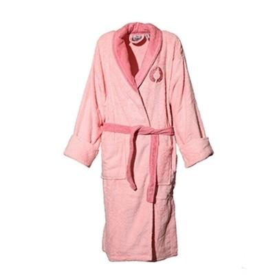 Μπουρνούζι Κέντημα & Γιακά Cotton 100% Ροζ - Sunshine