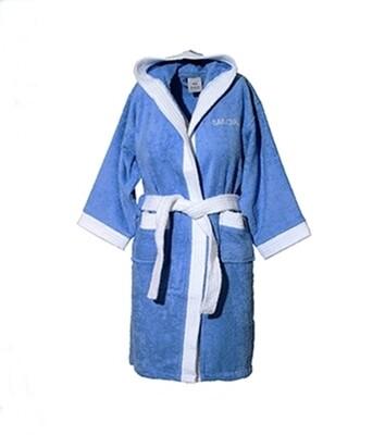 Μπουρνούζι Παιδικό-Εφηβικό Line Blue - Sunshine