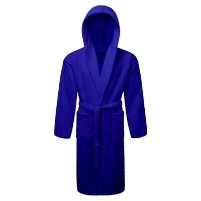 Μπουρνούζι με Κουκούλα Cotton 100% Blue - Komvos