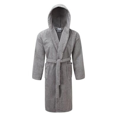 Μπουρνούζι  με Κουκούλα Cotton 100% Gray - Komvos