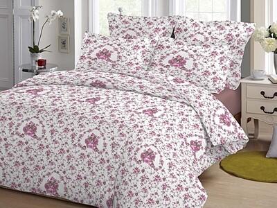 Παπλωματοθήκη Υπέρδιπλη Cotton Line Rose Fuchsia - Komvos