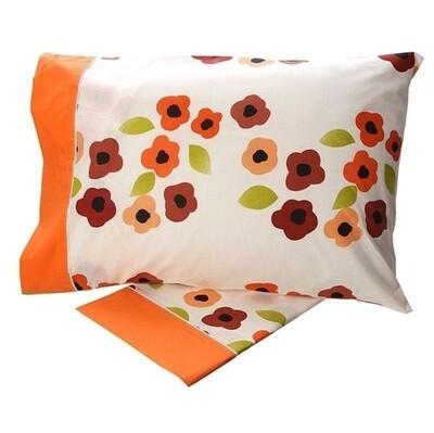 Σετ Σεντόνια Μονά Cotton Feelings 529 Orange - Sunshine