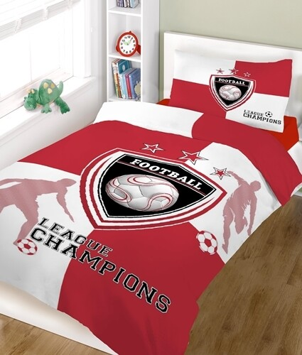 Παπλωματοθήκη Μονή Champions Red-White Cotton Line
