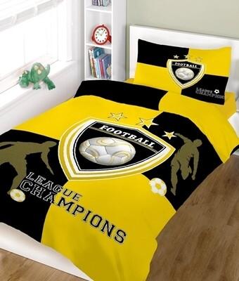 Κουβερλί Μονό Champions Yellow-White Cotton Line