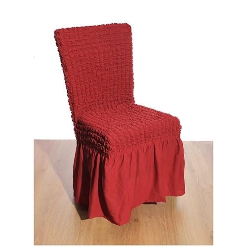 Κάλυμμα Καρέκλας Γκοφρέ Ελαστικό Red