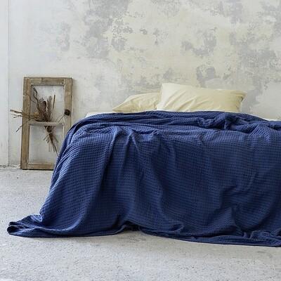 Κουβέρτα Υπέρδιπλη 220Χ240 εκ. Habit Navy Blue - Nima Home