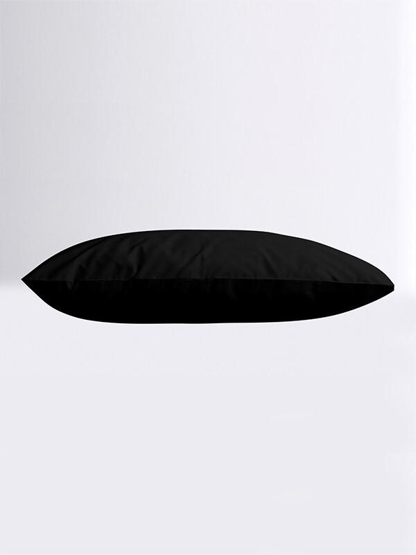 Μαξιλαροθήκες Ζευγάρι Μονόχρωμες Mernta 21 Black - Sunshine