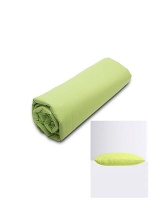 Σετ Κατωσέντονο Λάστιχο Υπέρδιπλο & 2 Μαξιλαροθήκες  Green Menta - Sunshine