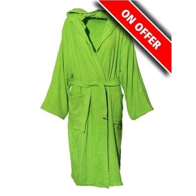 Μπουρνούζι Μονόχρωμο Cotton 100% Green - Sunshine