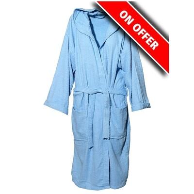 Μπουρνούζι Μονόχρωμο Cotton 100% Light Blue - Sunshine