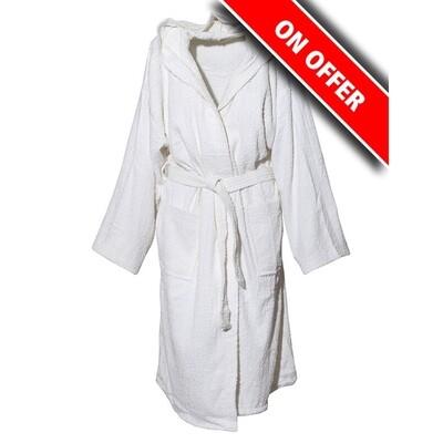 Μπουρνούζι Μονόχρωμο Cotton 100% White - Sunshine