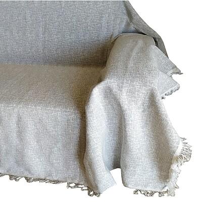 Ριχτάρι Μονοθέσιο Valencia Light Gray - Cotton
