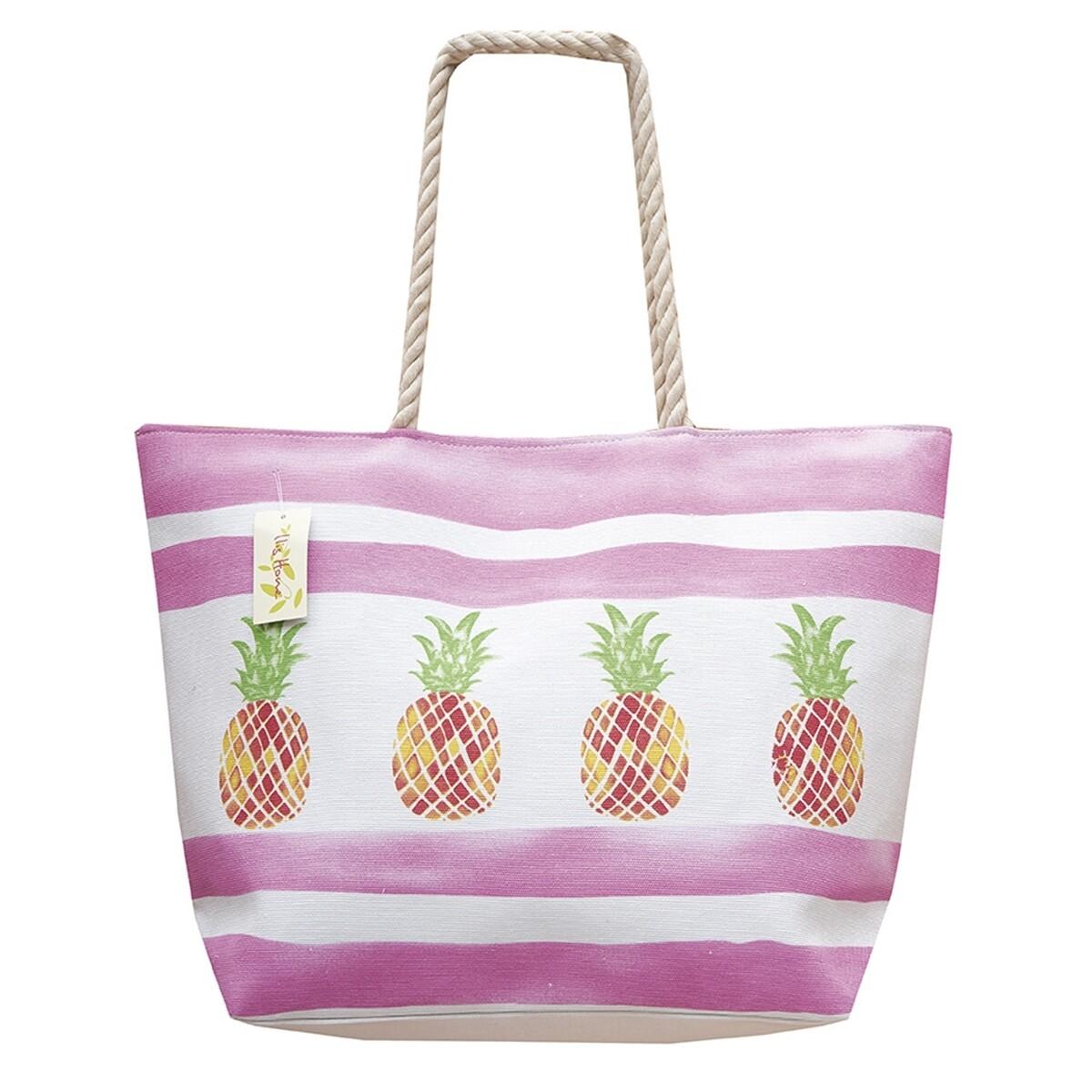 Τσάντα Σταμπωτή Fruits 45Χ45 εκ. 2766 L Ανανάς Ροζ - Ilis Home