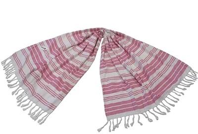 Πετσέτα-Παρεό Θαλάσσης Ρίγες Ροζ - Komvos