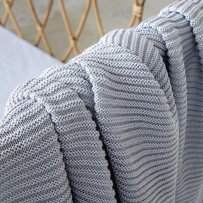 Κουβέρτα Κούνιας Wool Πλεχτή Pile Gray - Nima Home