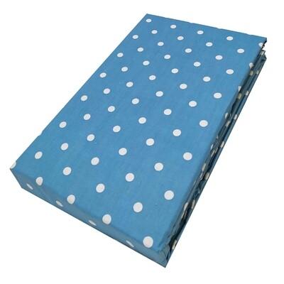Σεντόνι Διπλό Dots Light Blue - Komvos