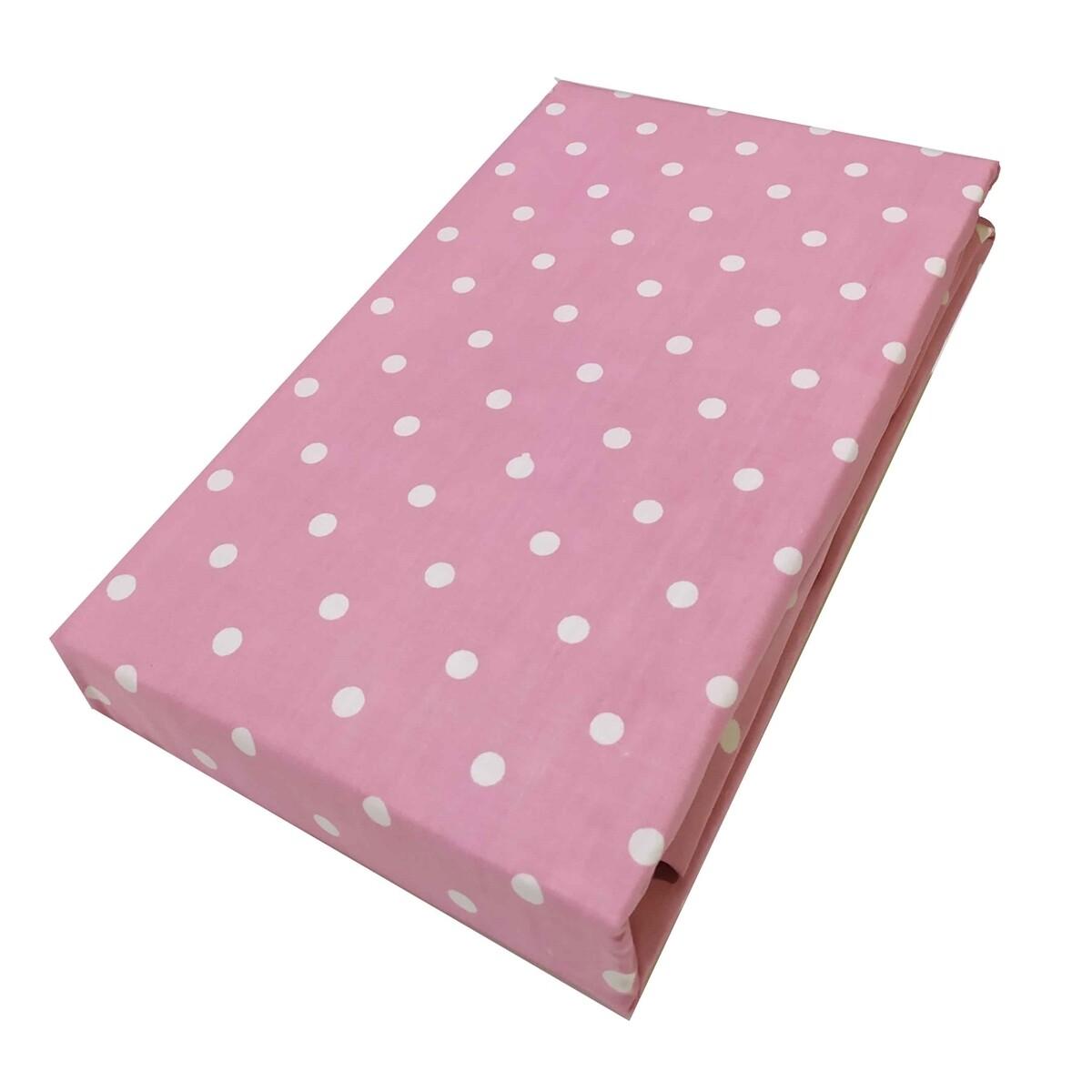 Μαξιλαροθήκες Ζευγάρι Dots Light Pink - Komvos