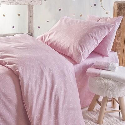 Σετ Παπλωματοθήκη Μονή Bright Pink - Rythmos