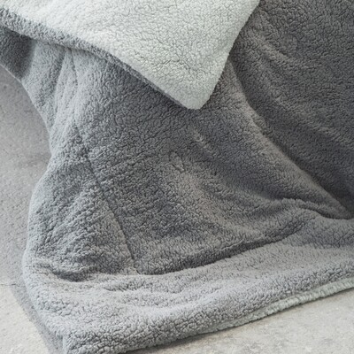 Κουβερτο-Πάπλωμα Γίγας Melt Mint-Dark Gray - Nima Home