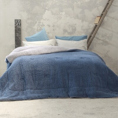 Κουβερτο-Πάπλωμα Μονό Melt Light Gray-Blue - Nima Home