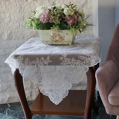 Τραπεζοκαρέ Δαντέλα 44162 Λευκό - Ilis Home
