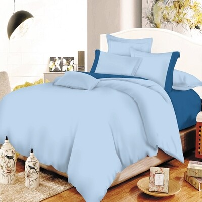 Παπλωματοθήκη Υπέρδιπλη Cotton Line Sky Blue - Blue - Komvos