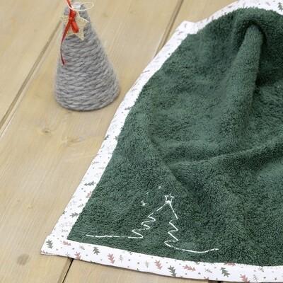 Πετσέτα 45Χ45 εκ. Κέντημα Pinecone Green - Nima Home