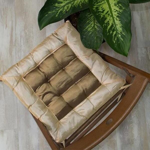 Μαξιλάρι Καρέκλας Satin Beige - Sunshine