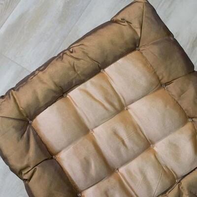 Μαξιλάρι Καρέκλας Satin Brown - Sunshine