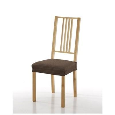 Σετ 2 τεμ. Κάλυμμα Κάθισμα Καρέκλας Ελαστικό Akari Καφέ - Mc Decor