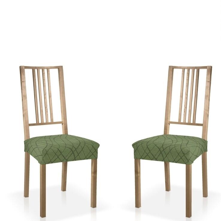 Σετ 2 τεμ. Κάλυμμα Κάθισμα Καρέκλας Ελαστικό Waves Πράσινο - Mc Decor