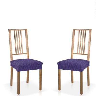 Σετ 2 τεμ. Κάλυμμα Κάθισμα Καρέκλας Ελαστικό Waves Μπλε - Mc Decor