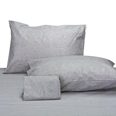 Μαξιλαροθήκες Ζευγάρι Lahour Gray Βαμβάκι 100% - Cotton Senses