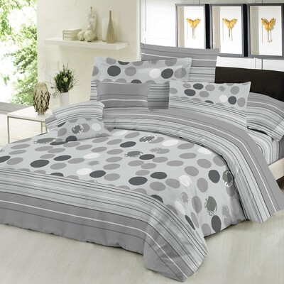 Παπλωματοθήκη Μονή Cotton Line Bubbles Gray - Komvos