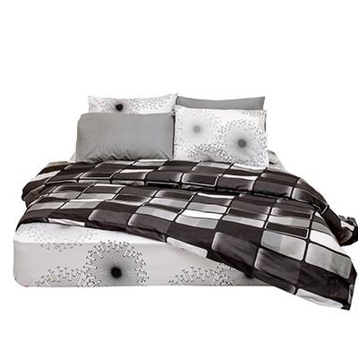 Μαξιλαροθήκες Ζευγάρι Brick Black Βαμβάκι 100% - Cotton Senses