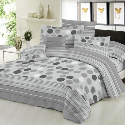 Παπλωματοθήκη Υπέρδιπλη Cotton Line Bubbles Gray - Komvos