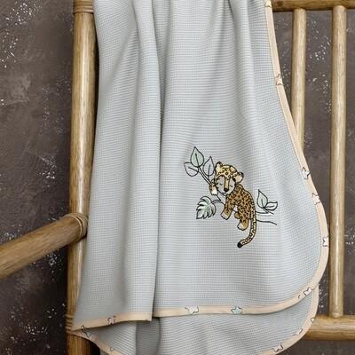 Κουβέρτα Πικέ Λίκνου Sleepy Panther - Nima Home